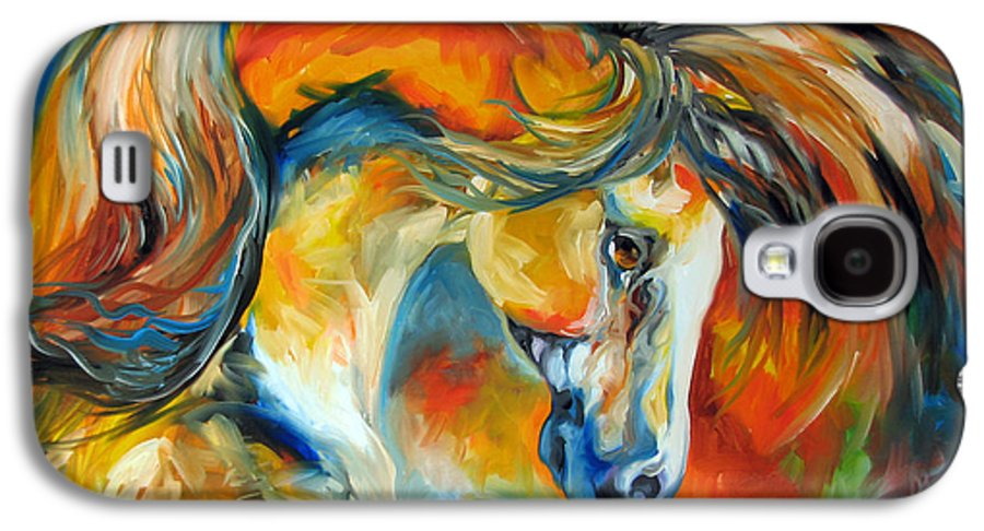 Equine Galaxy S4 Case featuring the painting Mustang West by Marcia Baldwin