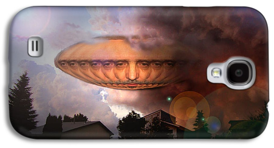 Surrealism Galaxy S4 Case featuring the digital art Mystic Ufo by Otto Rapp