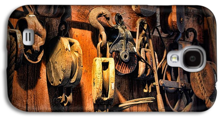 Paul Ward Galaxy S4 Case featuring the photograph Nautical - Boat - Block And Tackle by Paul Ward