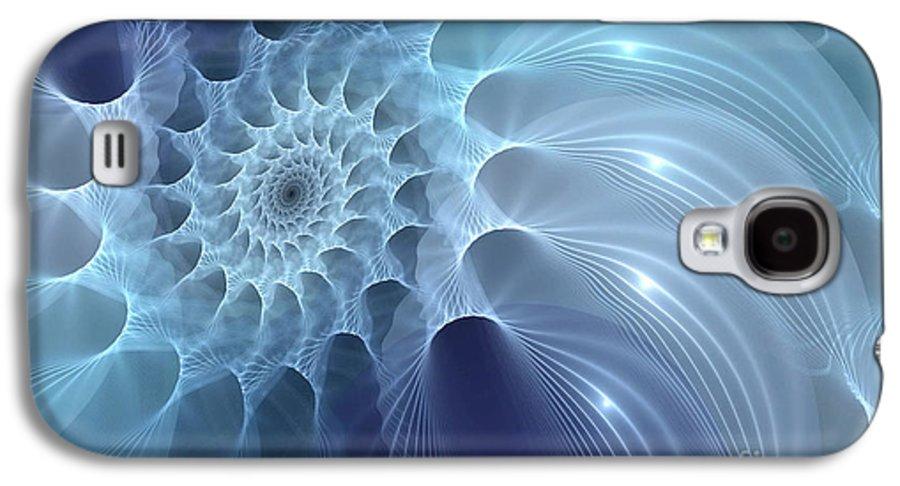 Fractal Nautilus Shell Galaxy S4 Case featuring the digital art Nautilus by John Edwards