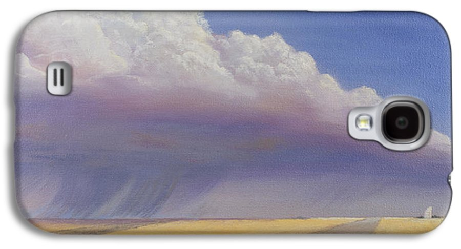 Landscape Galaxy S4 Case featuring the painting Nebraska Vista by Jerry McElroy