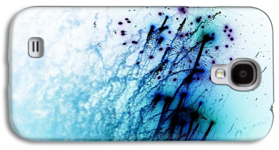 Blue Abstracts Galaxy S4 Case featuring the photograph Negative Fireworks by Sharon Lisa Clarke