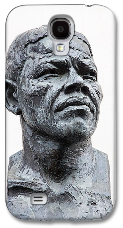 Africa Galaxy S4 Case featuring the photograph Nelson Mandela Statue by Jane Rix