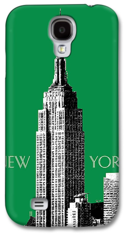 Architecture Galaxy S4 Case featuring the digital art New York Skyline Empire State Building - Forest Green by DB Artist