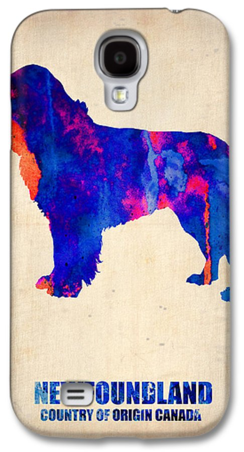 Newfoundland Galaxy S4 Case featuring the painting Newfoundland Poster by Naxart Studio