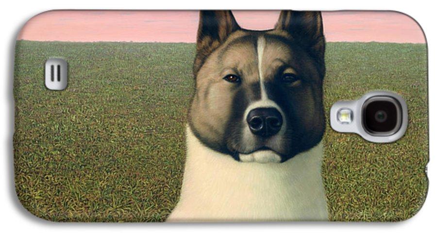 Akita Galaxy S4 Case featuring the painting Nikita by James W Johnson