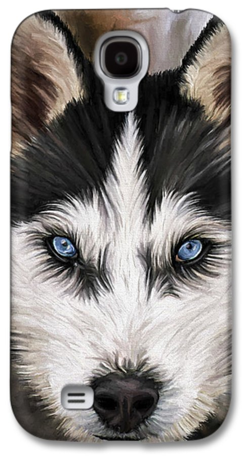 Dog Art Galaxy S4 Case featuring the painting Nikki by David Wagner