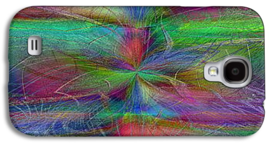 Abstract Galaxy S4 Case featuring the digital art No Strings Attatched 2 by Tim Allen