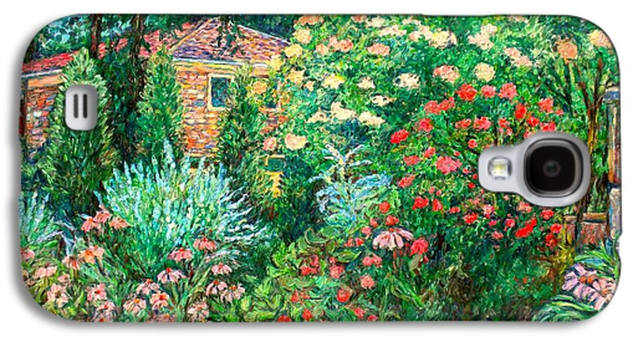 Garden Galaxy S4 Case featuring the painting North Albemarle In Mclean Va by Kendall Kessler