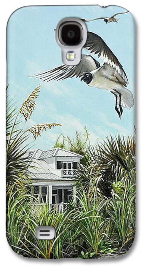 Bird Galaxy S4 Case featuring the painting North Shore Landing by Joan Garcia