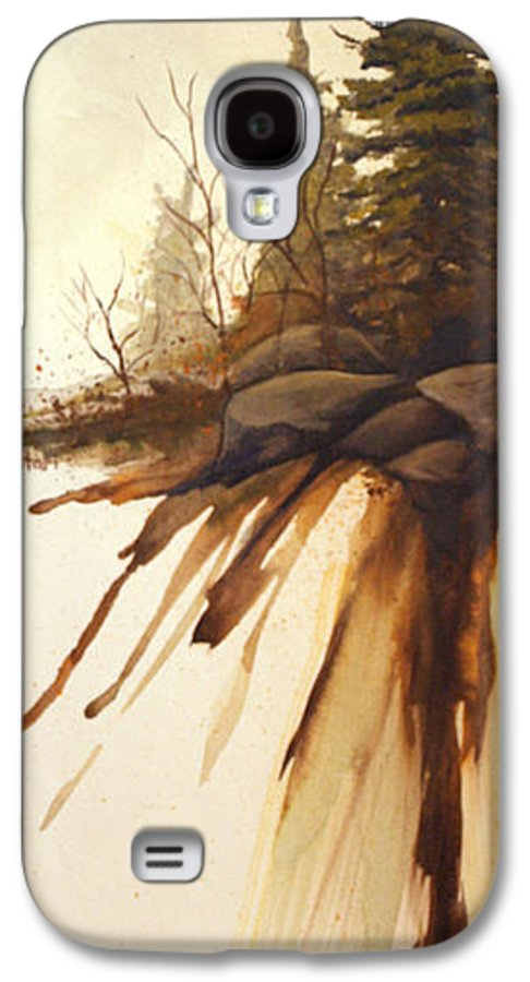 Rick Huotari Galaxy S4 Case featuring the painting North Woods Pines by Rick Huotari