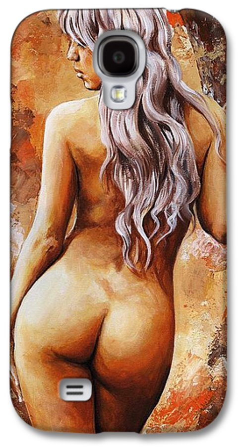 Nude Galaxy S4 Case featuring the painting Nymph 02 by Emerico Imre Toth
