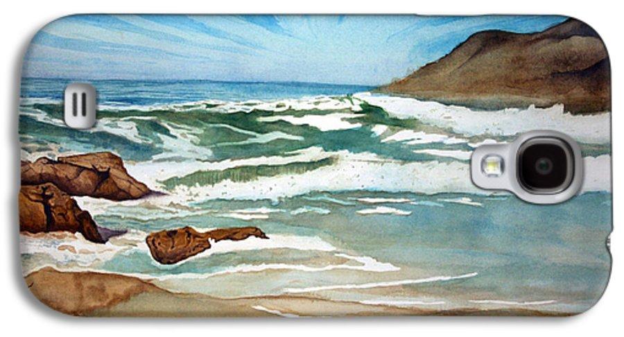 Rick Huotari Galaxy S4 Case featuring the painting Ocean Side by Rick Huotari