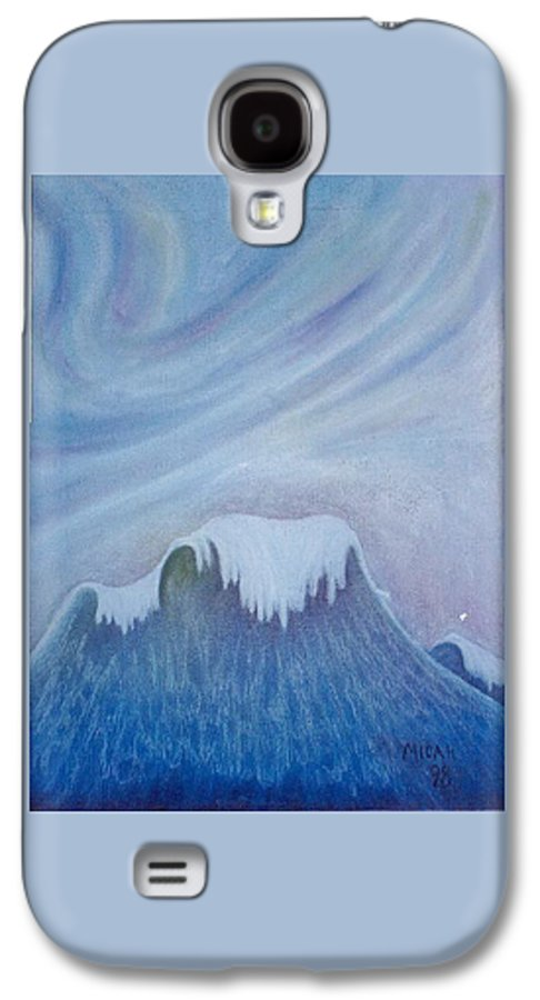 Ocean Galaxy S4 Case featuring the painting Ocean Wave by Micah Guenther