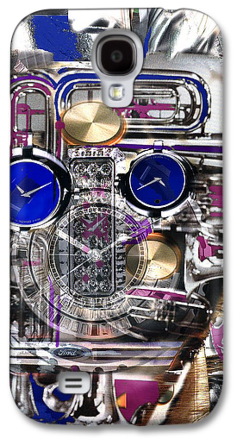 Robotic Time Traveller Galaxy S4 Case featuring the digital art Old Blue Eyes by Seth Weaver