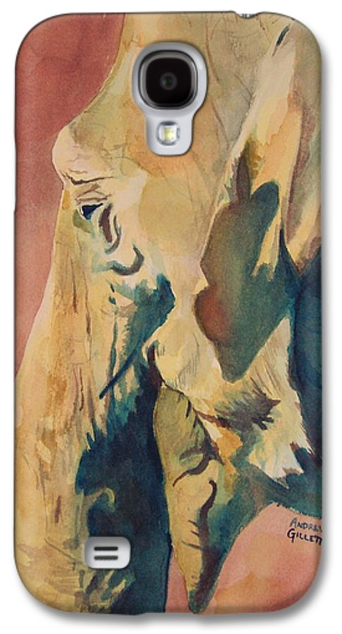 Elephant Galaxy S4 Case featuring the painting Old Elephant by Andrew Gillette