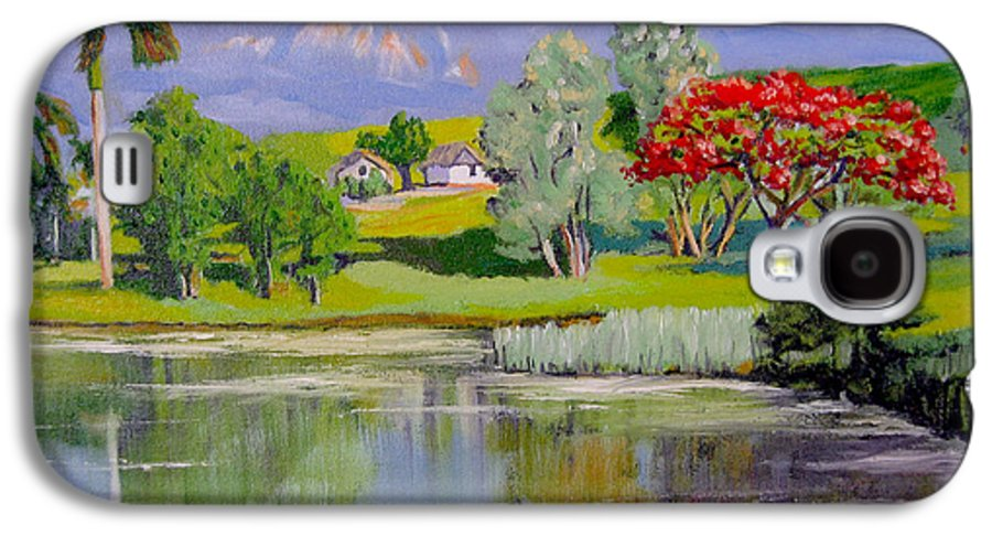 Oil Galaxy S4 Case featuring the painting Old Farm by Jose Manuel Abraham