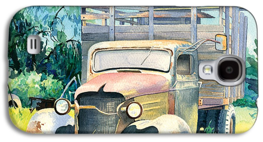 Water Color Galaxy S4 Case featuring the painting Old Kula Truck by Don Jusko