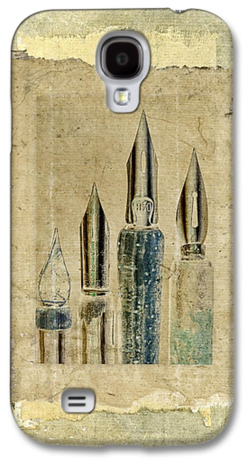Pens Galaxy S4 Case featuring the photograph Old Pens Old Papers by Carol Leigh