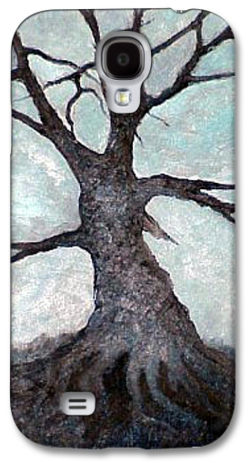 Landscape Galaxy S4 Case featuring the painting Old Tree by Sergey Bezhinets