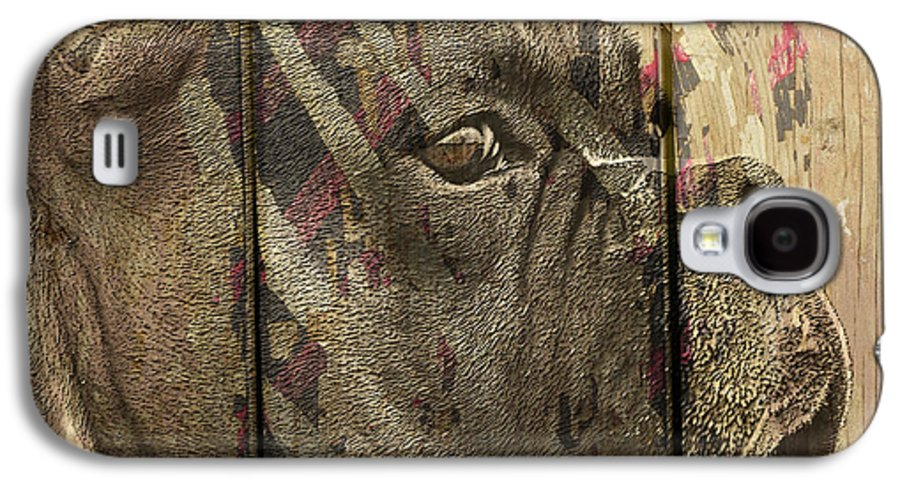 Boxer Dog Galaxy S4 Case featuring the digital art On The Fence by Judy Wood