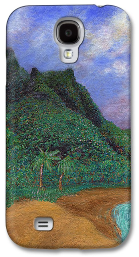 Coastal Decor Galaxy S4 Case featuring the painting On The North Shore by Kenneth Grzesik