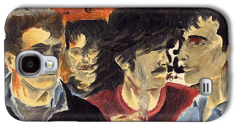 Eighties Galaxy S4 Case featuring the painting On The Street by Alan Hogan