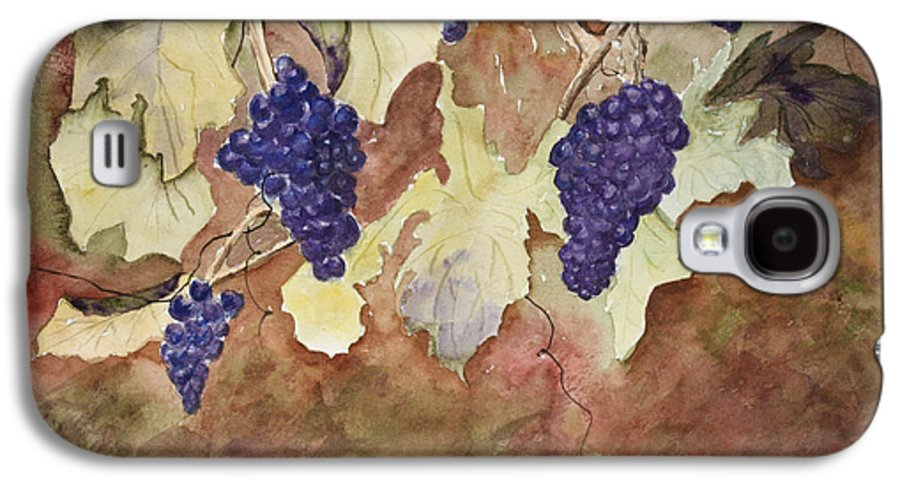 Grapes Galaxy S4 Case featuring the painting On The Vine by Patricia Novack