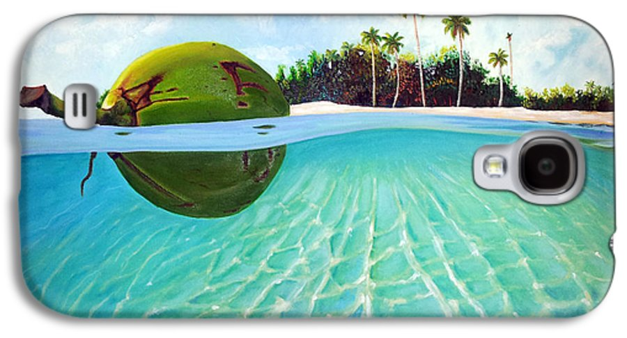 Coconut Galaxy S4 Case featuring the painting On The Way by Jose Manuel Abraham