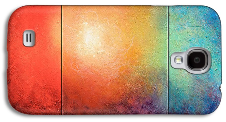 Abstract Galaxy S4 Case featuring the painting One Verse by Jaison Cianelli