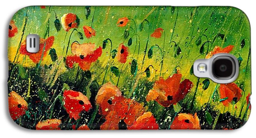 Poppies Galaxy S4 Case featuring the painting Orange Poppies by Pol Ledent