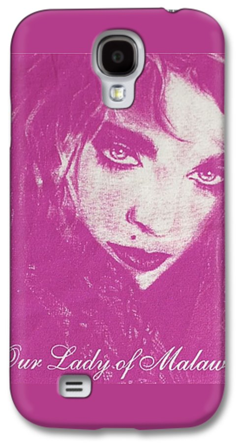 Madonna Galaxy S4 Case featuring the drawing Our Lady Of Malawi Madonna by Ayka Yasis