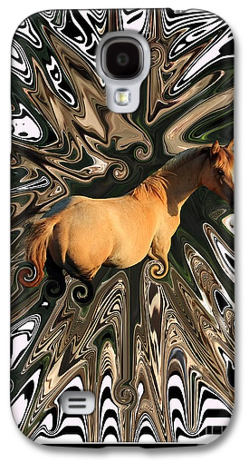 Abstract Galaxy S4 Case featuring the photograph Pale Horse by Aidan Moran