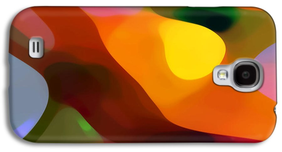Abstract Art Galaxy S4 Case featuring the painting Paradise Found 2 by Amy Vangsgard