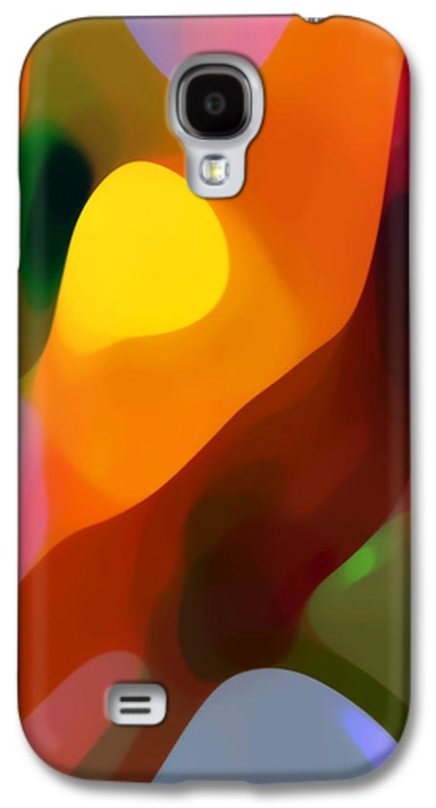 Abstract Art Galaxy S4 Case featuring the painting Paradise Found 2 Tall by Amy Vangsgard