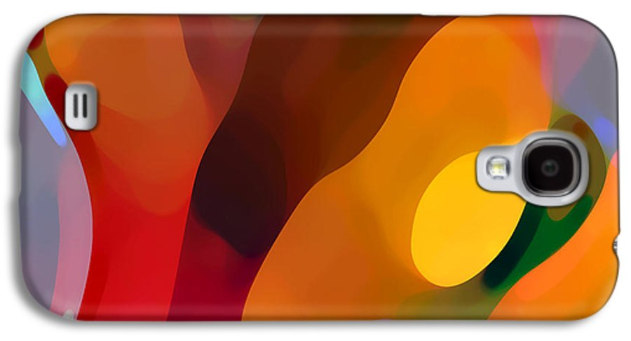 Abstract Art Galaxy S4 Case featuring the painting Paradise Found 3 by Amy Vangsgard