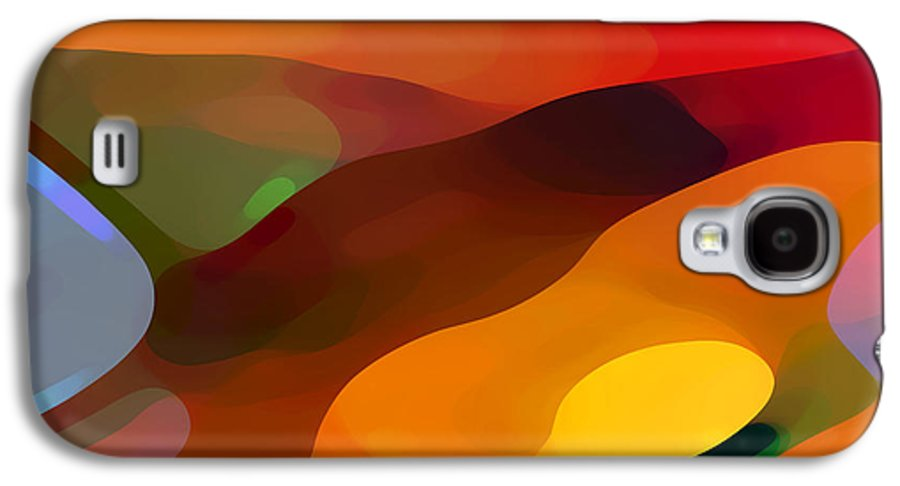 Abstract Galaxy S4 Case featuring the painting Paradise Found by Amy Vangsgard