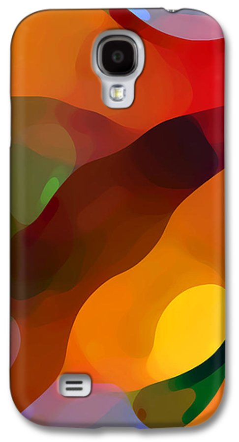 Abstract Art Galaxy S4 Case featuring the painting Paradise Found Tall by Amy Vangsgard