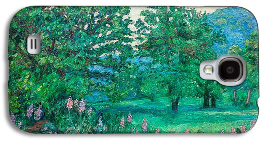 Landscape Galaxy S4 Case featuring the painting Park Road In Radford by Kendall Kessler