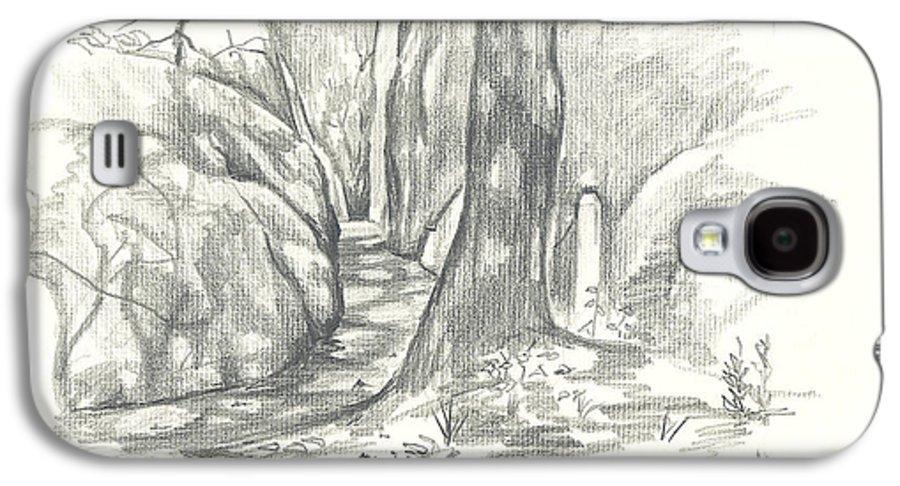Passageway At Elephant Rocks Galaxy S4 Case featuring the drawing Passageway At Elephant Rocks by Kip DeVore