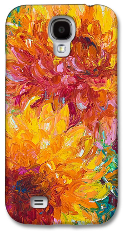 Oil Galaxy S4 Case featuring the painting Passion by Talya Johnson