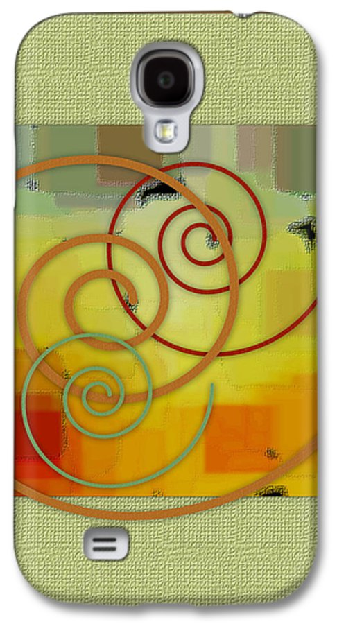 Abstract Galaxy S4 Case featuring the digital art Patchwork I by Ben and Raisa Gertsberg