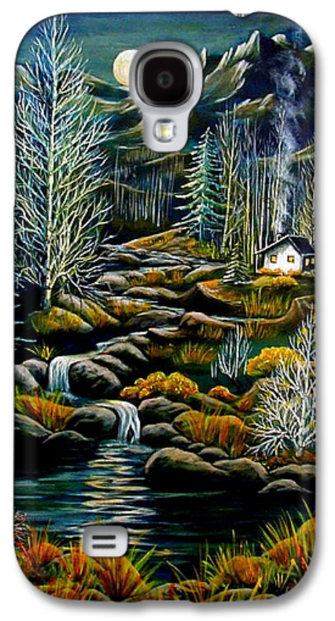 Mountains Galaxy S4 Case featuring the painting Peaceful Seclusion by Diana Dearen