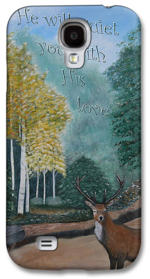 Landscape Galaxy S4 Case featuring the painting Peaceful Walk by Mary Grabill