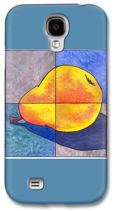 Pear Galaxy S4 Case featuring the painting Pear I by Micah Guenther