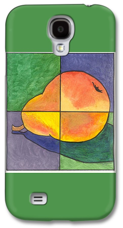 Pear Galaxy S4 Case featuring the painting Pear II by Micah Guenther