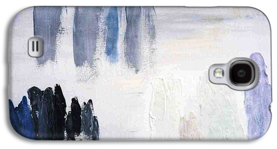 White Landscape Galaxy S4 Case featuring the painting People Come And They Go by Bruce Combs - REACH BEYOND