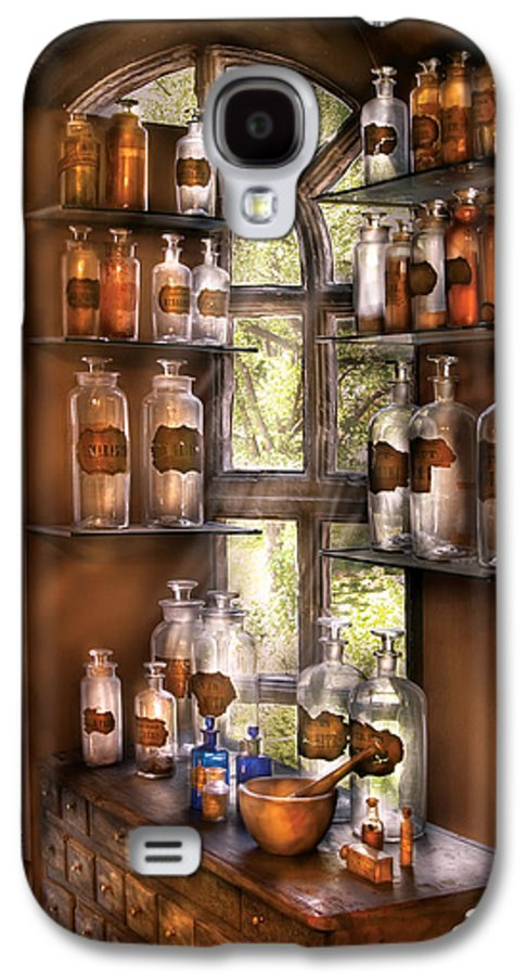 Pharmacy Galaxy S4 Case featuring the photograph Pharmacist - Various Potions by Mike Savad