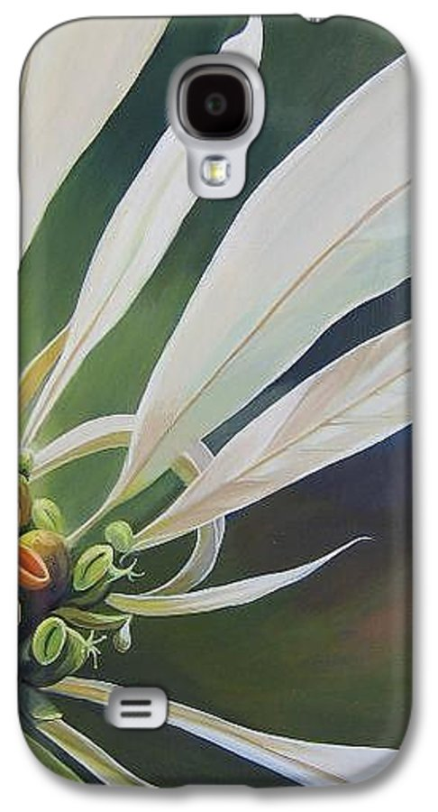 White Poinsettia Galaxy S4 Case featuring the painting Phenomenal World by Hunter Jay