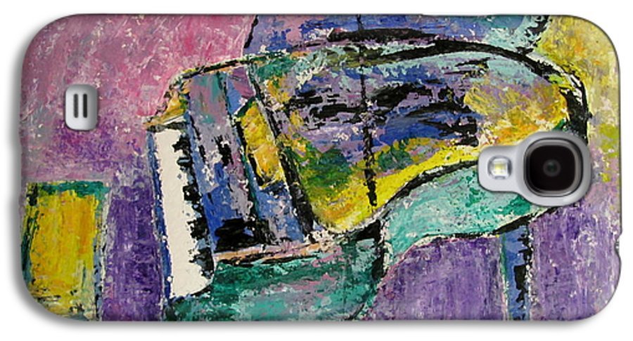 Impressionist Galaxy S4 Case featuring the painting Piano Green by Anita Burgermeister